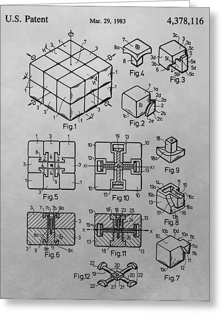 Rubik's Cube Design Greeting Card