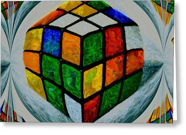 Rubiks Greeting Card