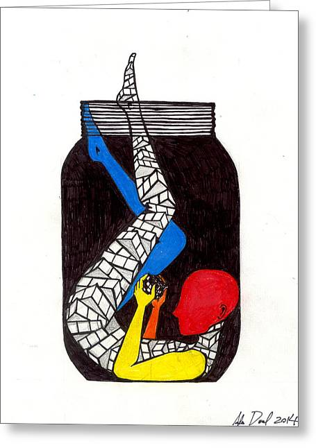 Rubix Greeting Card by Ada Denil