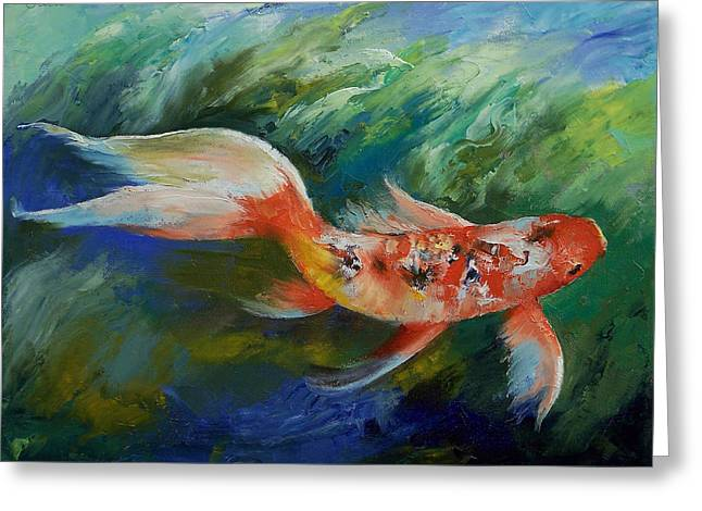 Ruby And Sapphire Greeting Card by Michael Creese