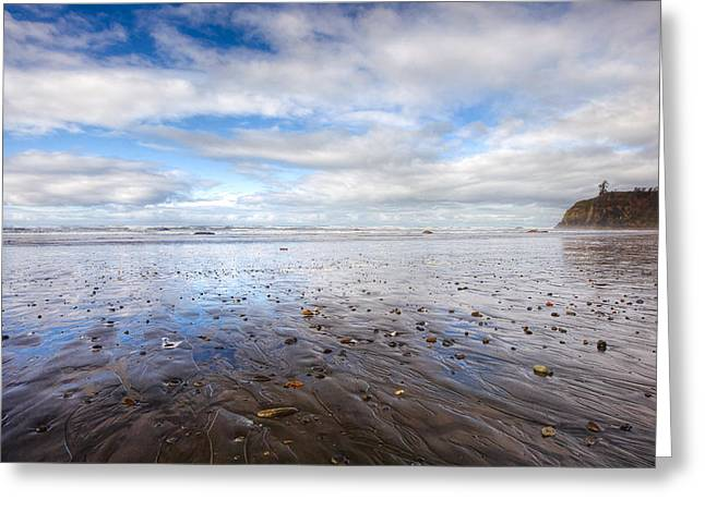 Ruby Beach Greeting Card by Anthony J Wright