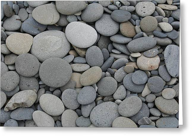 Ruby Beach Pebbles Greeting Card