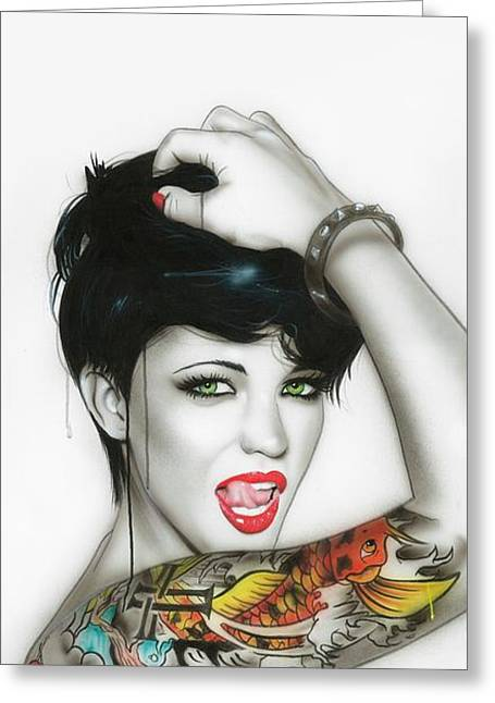 Ruby Rose - ' Ruby ' Greeting Card by Christian Chapman Art