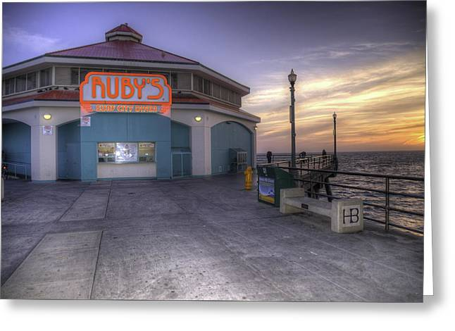 Ruby's At Sunset Greeting Card