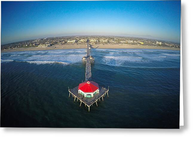 Ruby's On The Huntington Beach Pier Greeting Card by Creative Dog Media