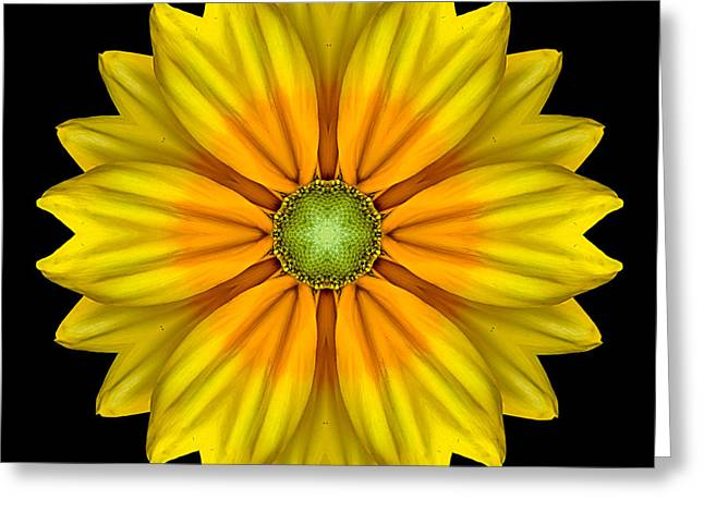 Rudbeckia Prairie Sun I Flower Mandala Greeting Card by David J Bookbinder