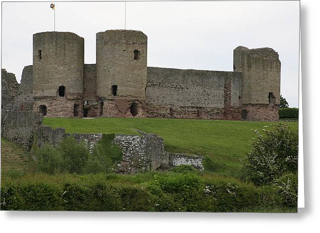 Greeting Card featuring the photograph Ruddlan Castle 2 by Christopher Rowlands