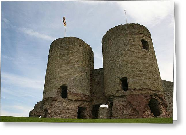 Greeting Card featuring the photograph Ruddlan Castle by Christopher Rowlands