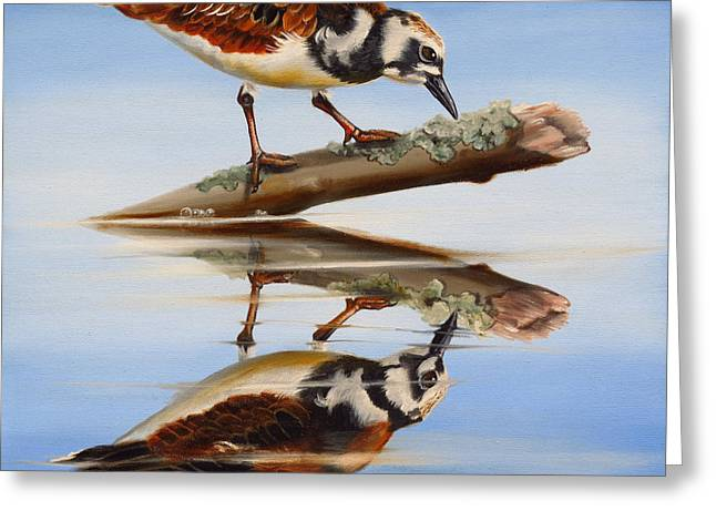Greeting Card featuring the painting Ruddy Reflection by Phyllis Beiser