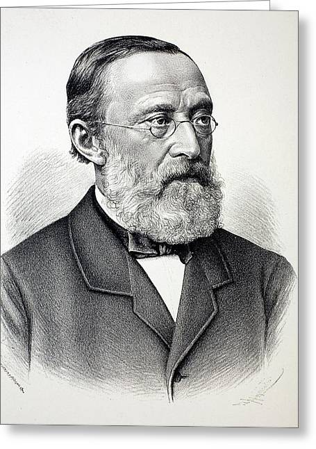 Rudolf Virchow Greeting Card by Paul D Stewart