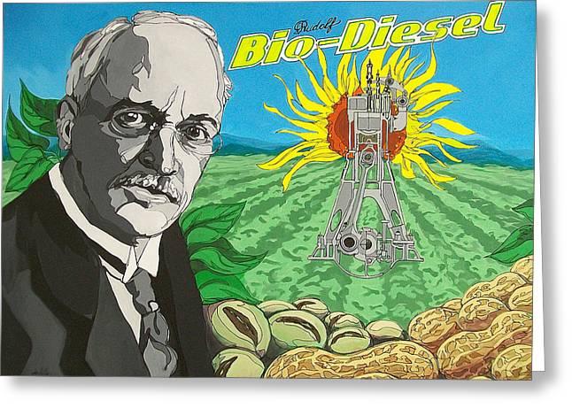 Rudolf Bio-diesel Greeting Card