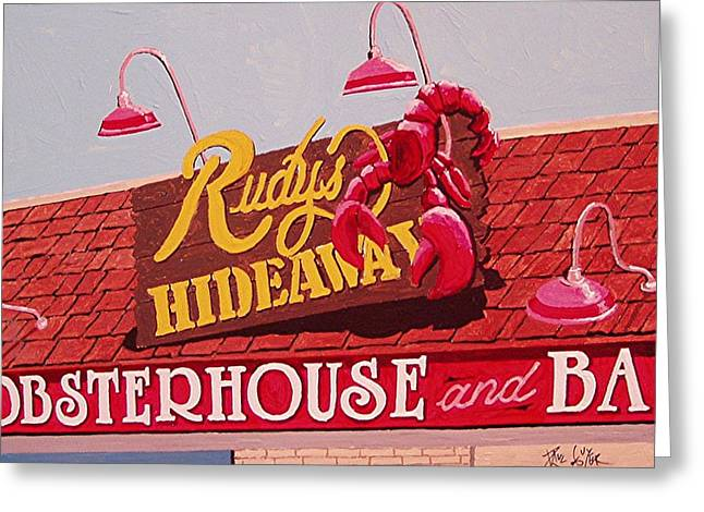 Rudy's Hideaway Greeting Card by Paul Guyer