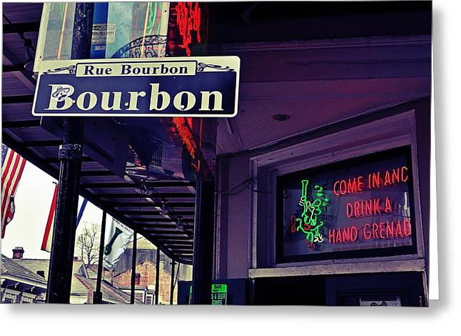 Rue Bourbon Street Greeting Card