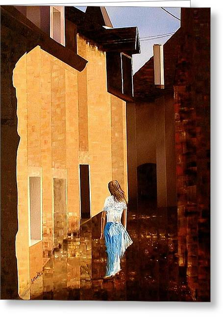 Rue De L'art Greeting Card by Laurend Doumba