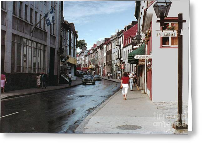 Rue Des Jardins Greeting Card by Cedric Hampton