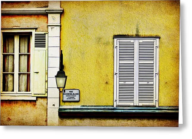Rue Du Cheval Blanc Greeting Card by Nikolyn McDonald