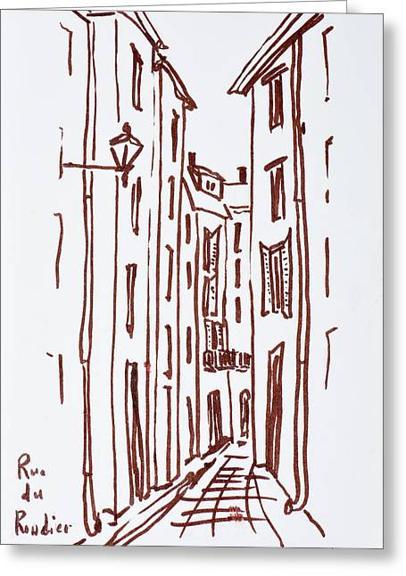 Rue Du Rondier, Grasse, France Greeting Card