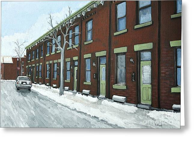 Rue Grand Trunk Pointe St. Charles Greeting Card by Reb Frost
