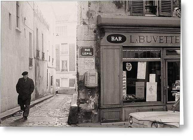 Rue Lepic Greeting Card by Michel Kotski