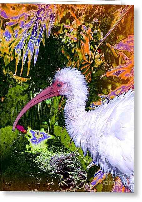 Ruffled Feathers Greeting Card by Doris Wood
