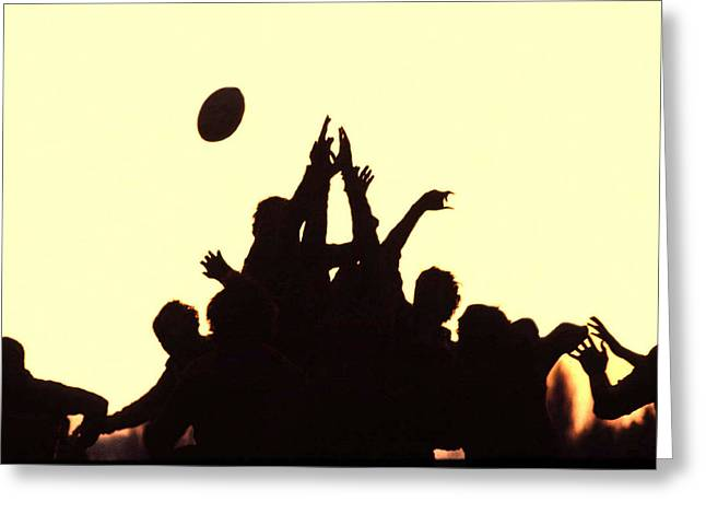 Rugby Line Out Greeting Card