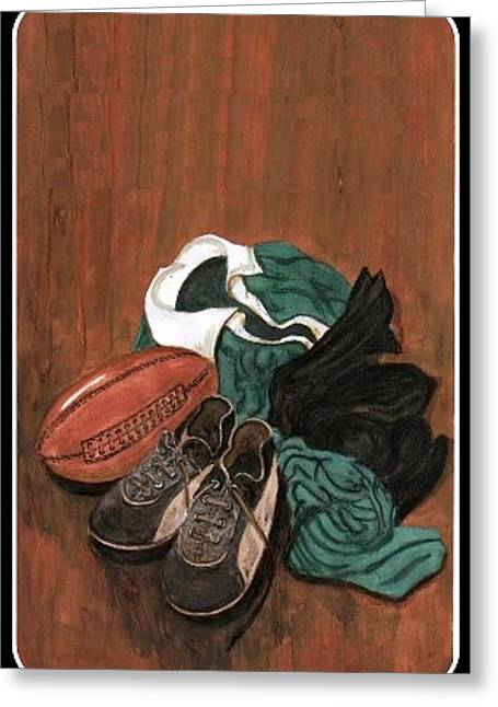 Rugby Greeting Card by Sam Mart