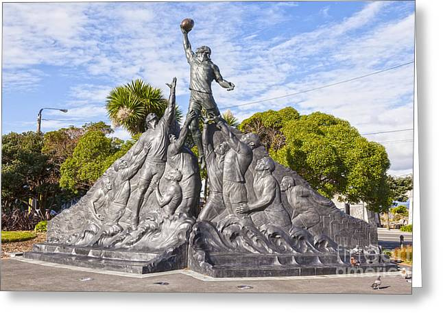 Rugby World Cup Sculpture Wellington New Zealand Greeting Card