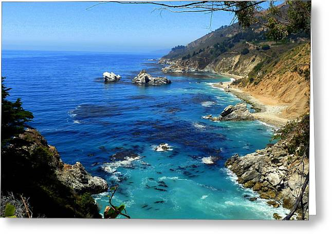 Rugged California Coastal Seascape Greeting Card by Jeff Lowe