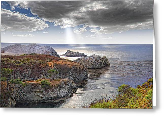 Rugged California Coastline Greeting Card by Utah Images