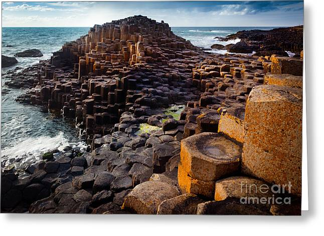 Rugged Giant's Causeway Greeting Card by Inge Johnsson