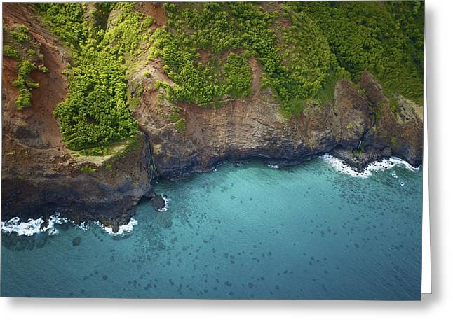 Rugged Kauai Coastline Greeting Card by Kicka Witte