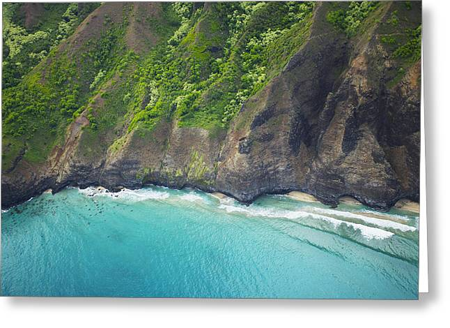 Rugged Na Pali Coast Greeting Card by Kicka Witte