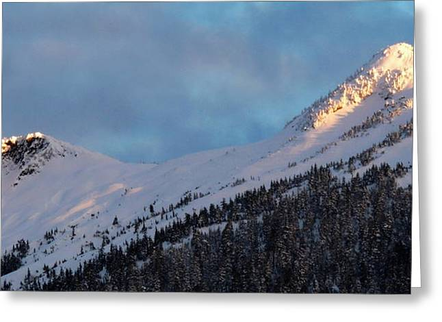 Rugged Ridge Greeting Card by Karen Horn