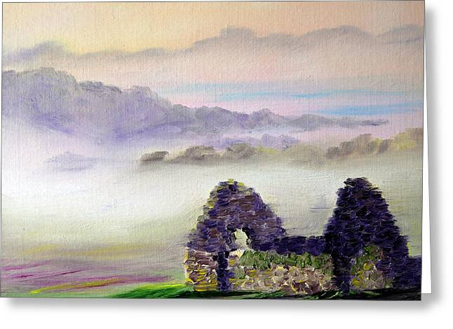 Ruin Above The Mist Greeting Card