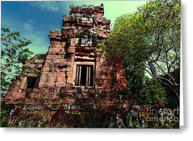 Ruin At Angkor Greeting Card