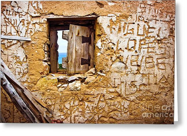 Ruined Wall Greeting Card by Carlos Caetano