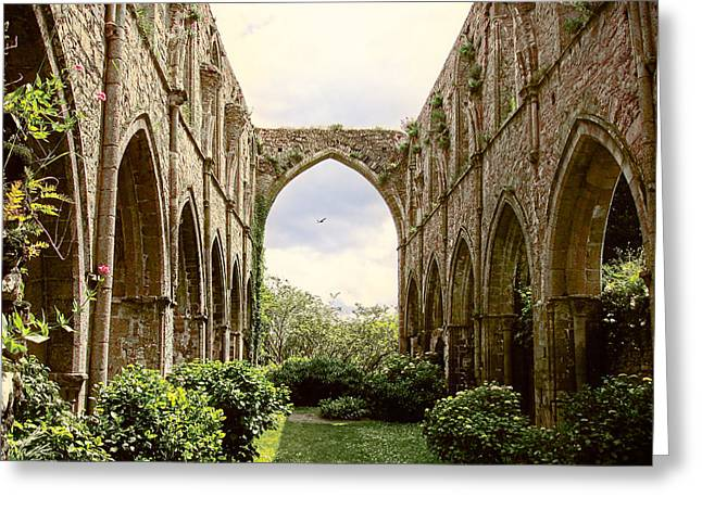 Ruins Abbaye De Beauport Paimpol Bretagne Greeting Card
