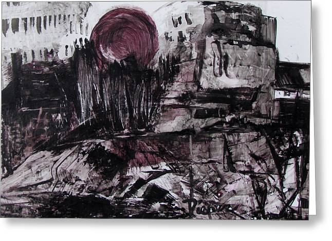 Ruins In Shades Of Gray  Greeting Card by Betty Pieper