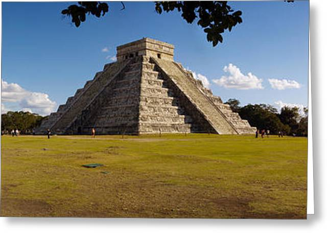 Ruins Of A Pyramid, Kukulkan Pyramid Greeting Card