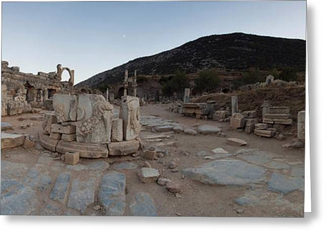Ruins Of A Temple, Temple Of Domitian Greeting Card by Panoramic Images