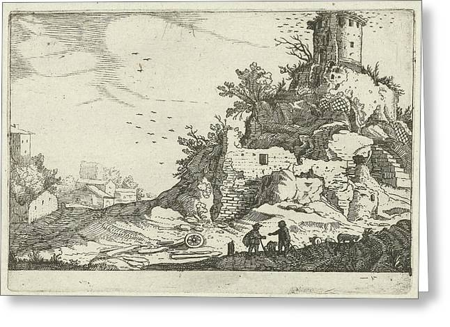 Ruins Of A Tower, Willem Van Nieulandt II Greeting Card