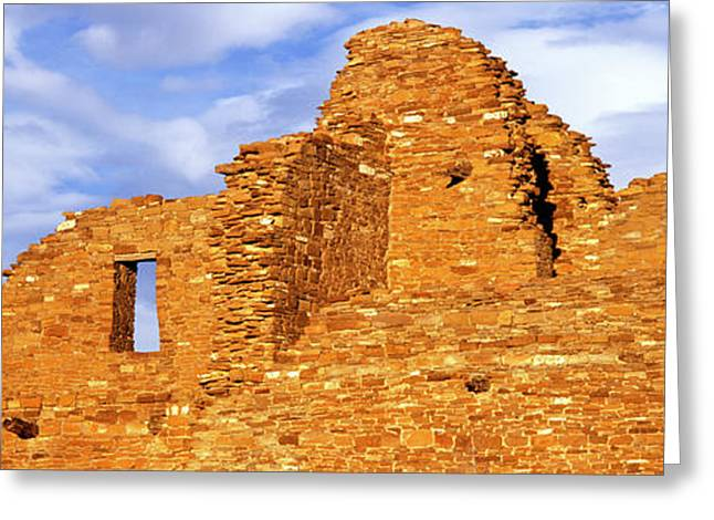 Ruins Of A Wall, Pueblo Del Arroyo Greeting Card by Panoramic Images