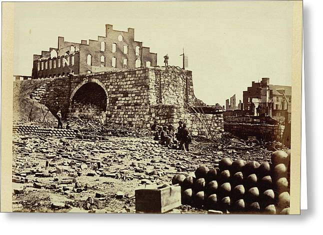 Ruins Of An Ammunition Store Greeting Card by British Library