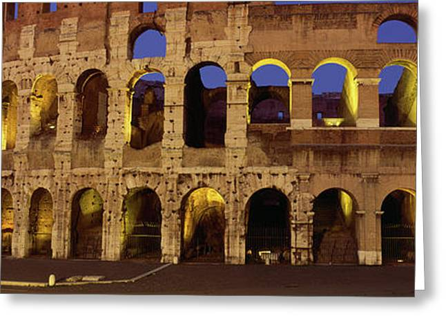 Ruins Of An Amphitheater, Coliseum Greeting Card by Panoramic Images