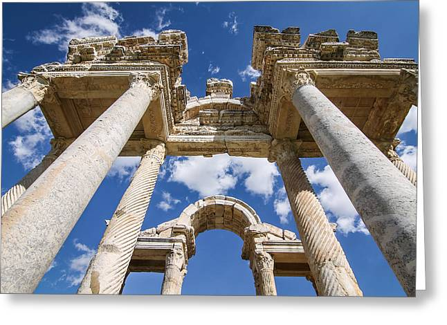 Ruins Of Aphrodisias Greeting Card by Suzanne Morris