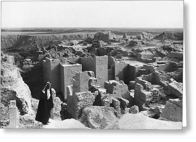 Ruins Of Babylon Greeting Card by Underwood Archives