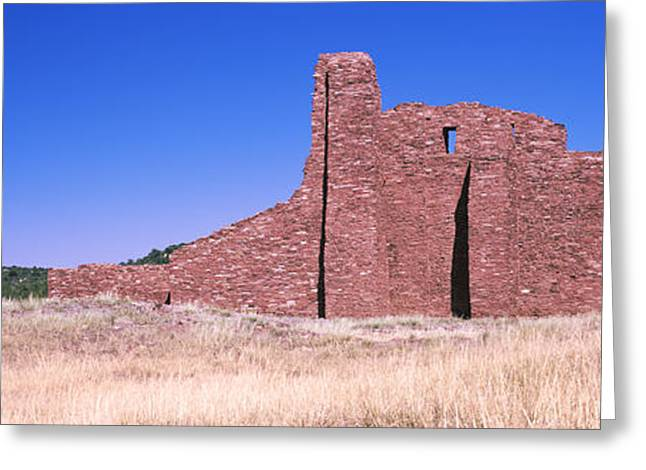 Ruins Of Building, Salinas Pueblo Greeting Card by Panoramic Images