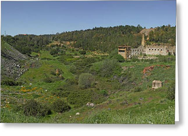 Ruins Of Buildings And Mining Effects Greeting Card by Panoramic Images
