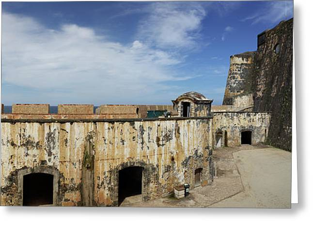 Ruins Of Castillo San Felipe Del Morro Greeting Card