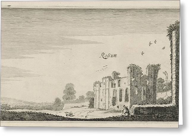 Ruins Of Castle Rossum, Maasdriel Bommelerwaard Greeting Card